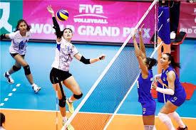 bong nu bóng chuyền nữ thái lan đánh bại đội 2 lần vô địch olympic thể