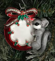 sugar glider photo frame christmas ornament by sculpturerealm on