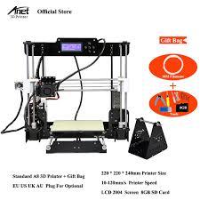 imprimante 3d de bureau anet a8 a6 a2 haute précision bureau 3d kit d imprimante reprap i3