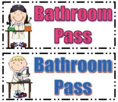 Bathroom Pass Ideas Printable Bathroom Passes Passionative Co