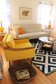 mid century modern living room small bungalow midcentury