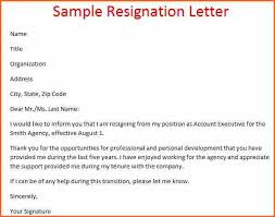 7 resignation letters budget template letter