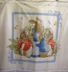 beatrix potter rabbit nursery rabbit beatrix potter cot quilt fabric panel 46 x 44