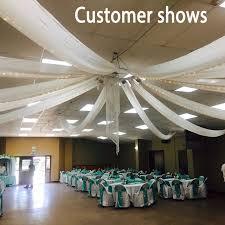 tenture plafond mariage 2ftx32ft plat de mariage tentures au plafond parti décor de