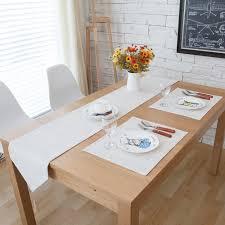 home decor table runner burlap linen vintage frech style white deer home decor table runner