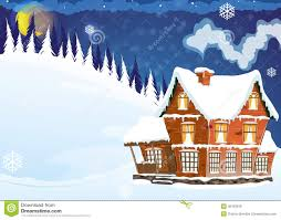 house with a snow covered roof royalty free stock photos image