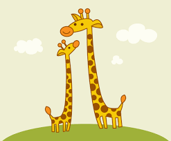 free cute cartoon giraffes vector vector art u0026 graphics