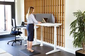 sit stand desk chair jot up height adjustable sit stand desks integrated well working