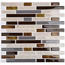 art3d 6 pack backsplash tile for kitchen marble square peel and