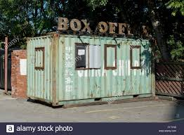 a china shipping container turned into a box office at the