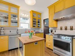 gray kitchen cabinets yellow walls 75 beautiful yellow kitchen with gray countertops pictures