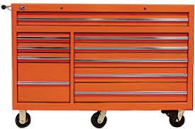 Orange Filing Cabinet Value Series 56 Inch 10 Drawer Tool Cabinet Orange