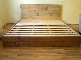 amazing how to build a platform bed with headboard 58 in queen