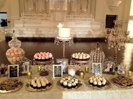 gold cake stands vintage glam dessert table etablir