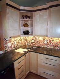 corner kitchen sink designs kitchen decorative luminous mosaic patterned backsplash below