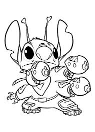 lilo stitch coloring pages stitch gun coloringstar