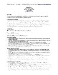 Sample Federal Government Resumes by Example Resume Resume Cv