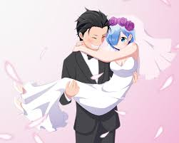 subaru anime character media wedding day re zero