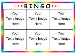 bingo board template 6 page 1 k 3 teacher resources