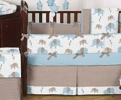 Cheap Crib Bedding Sets For Boy Cheap Blue Brown Elephant Baby Bedding Crib Set Boy Room