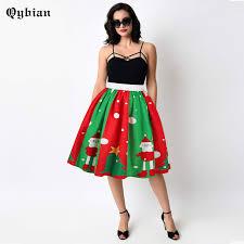 christmas skirt qybian 2017 womens christmas skirt high waist mini skirt santa claus