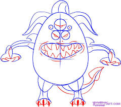 draw a cartoon monster step by step drawing sheets added by