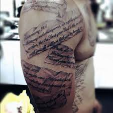 scripture tattoos for ideas and designs for guys