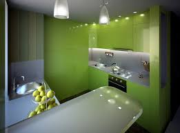 trendy green kitchen decor shows modern green cabinetry and built