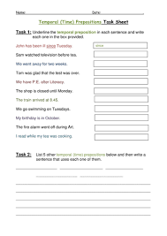 temporal time prepositions by helenlyall teaching resources tes