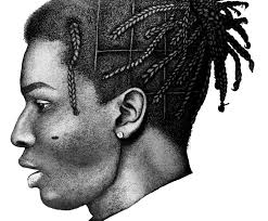 Asap Rocky Hairstyle Name Asap Rocky Pen And Ink Stipple Drawing