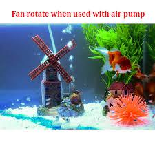 new design air driving windmill castle aquarium ornament