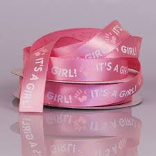 it s a girl ribbon it s a girl pink ribbon with white print
