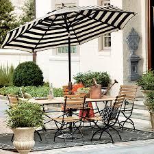 Black And White Patio Umbrella Auto Tilt Umbrella Tilt Outdoor Tables And Patios