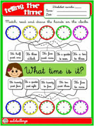 telling the time worksheet english step by step 4th graders