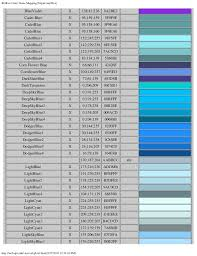 gray blue color rgb to color name mapping