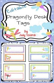 Desk Name Tags by Dragonfly Desk Name Tags Editable Classroom Desk Student