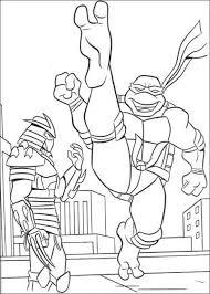 teenage mutant ninja turtles color names colouring pages