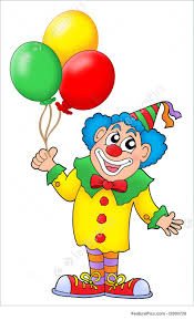 clown baloons clown with balloons illustration