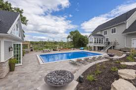 backyard pool and patio in andover mn spear u0027s landscape