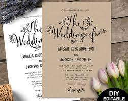 Rustic Wedding Invitation Rustic Invitation Etsy