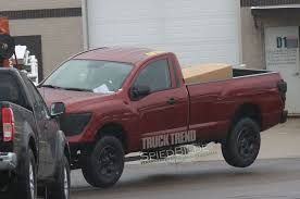 nissan titan warrior 2017 caught undisguised 2017 nissan titan regular cab