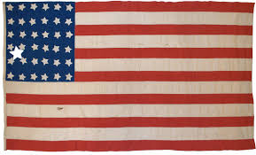 Hanging American Flag Vertically Rare Flags Antique American Flags Historic American Flags
