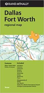 fort worth map folded map dallas fort worth regional map rand mcnally