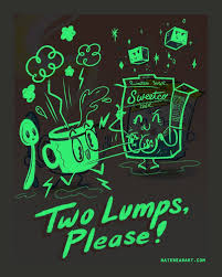 glow in the dark poster two lumps please naughty glow in the dark poster nate bear