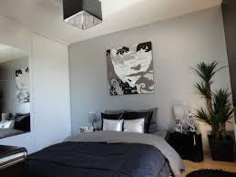 chambre noir gris supérieur decoration mur chambre a coucher 2 chambre et
