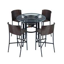 Patio Bar Height Table And Chairs Patio Bar Table Set Sosfund
