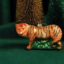 tiger ornament large ornaments klevering ws