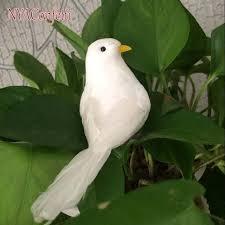 shop 10pcs 13 4 6cm artificial decorative white birds foam