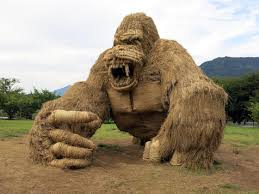 in japan the massive rice straw animals of the wara art matsuri