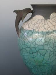 Dolphin Vase Porcelain Mugs Stoneware Bowls And Raku Lamps For Sale In Maine